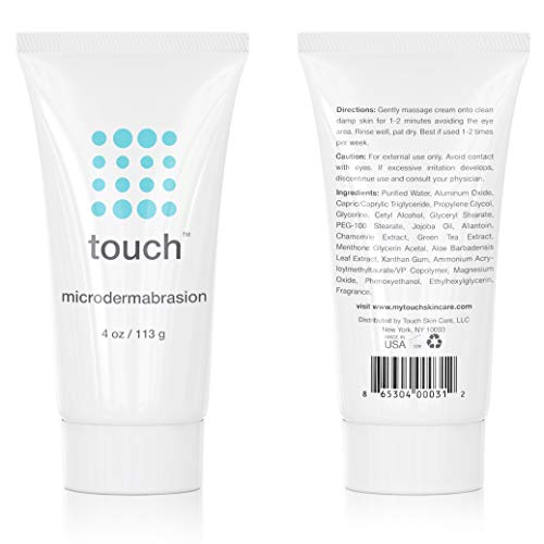 Microdermabrasion Facial Scrub & Face Exfoliator - Exfoliating Face Scrub Cream With Same Crystals Dermatologist Use - Large 4 Ounce Size - Best For Anti-Aging, Acne Scars, Dullness, Wrinkles, Pores by TOUCH (Image #6)