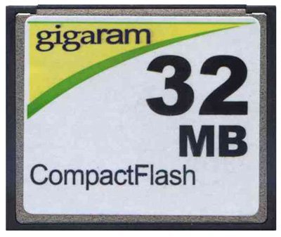 32MB Gigaram CompactFlash Card - Standard Speed (p/n CF-32MB) - 32 Mb Approved Memory