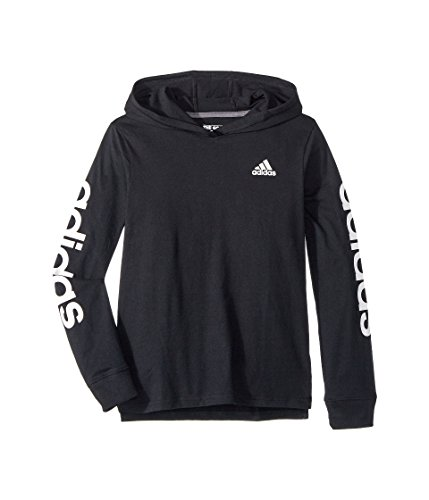 - adidas Kids Boy's Sleeve Hoodie (Big Kids) Black Large