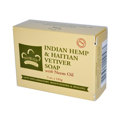 2 Packs of Nubian Heritage Bar Soap Indian Hemp And Haiti...