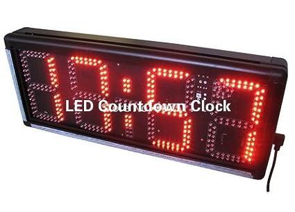 "8 ""al aire libre LED reloj de cuenta atrás LED reloj de pared con"