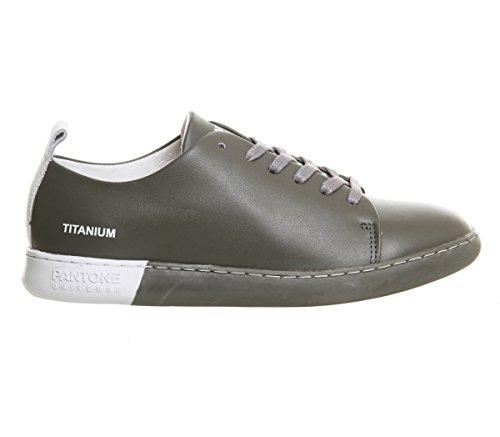 Pantone Unisex-Erwachsene NYC Sneaker Titanium Leather