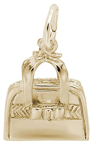 (Rembrandt Hand Bag Purse Charm - Metal - Gold-Plated Sterling Silver)