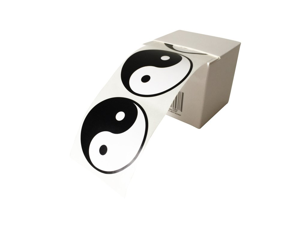 in pratica scatola dispenser diametro 5/cm 50/x etichette Yin Yang adesive