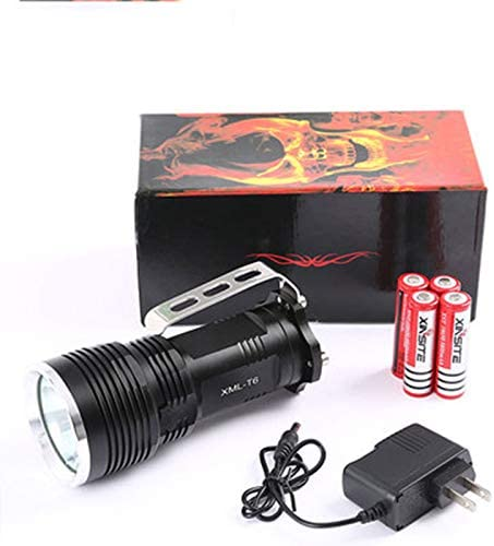 ZZJ LED Rechargeable Handheld Searchlight,Portable High-Power Super Bright 6000 Lumens USB Power Bank IPX4 Waterproof Outdoor Spotlight Flashlight Camping Multi