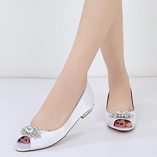 Boda F5049 Rhinestone Boda de de Elegant Boda Las de del La Zapatos Mujeres 30 de shoes Zapatos high Blanco SqqTIxAw8