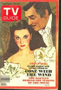 - TV Guide Nov 6-12 1976 Gone with the Wind Clark Gable and Vivien Leigh