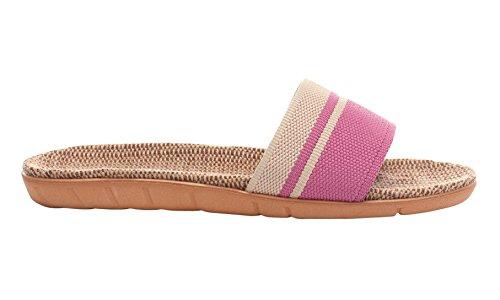 Linen Indoor Summer Coco Skidproof Pink Slippers Cozy 2 Unisex Urban wUTtqxRUC