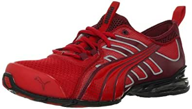 PUMA Men's Voltaic 4 Fade Running Shoe, Ribbon Red/Cordovan, 10.5 D US