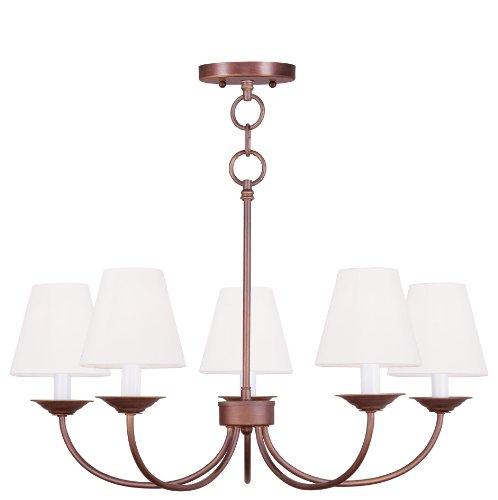livex lighting 5275–70Mendham 5-Light Convertible cadena colgar lámpara de araña/Soporte de techo, clásico bronce