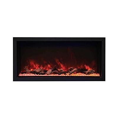 Sierra Flame Amantii BI-40-DEEP-XT Indoor/Outdoor Built-in Electric Fireplace, 40-Inch