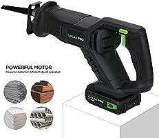 GALAX PRO Sierra Sable, 20V con Batería de Litio de 2.0Ah, Incluye Cargador, 5 Hojas, Velocidad Regulable 0-3000SPM, Longitud de Carrera de 22mm y 150 ...