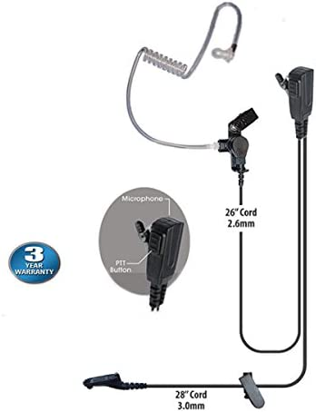 1-wire Headset Earpiece For Motorola XPR6350 XPR6550  XPR6580 XPR7550 Handheld