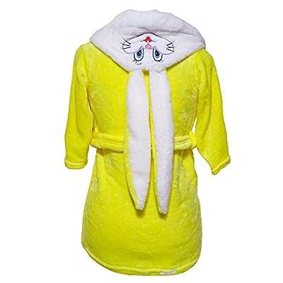 Jesya Niki Kids Soft Bunny Hooded Bathrobe Costume Robe Fun (More Colors)