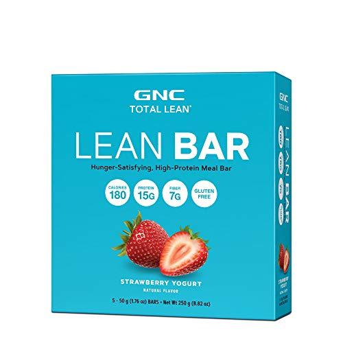 - GNC Total Lean Lean Bar, Strawberry Yogurt, 5 Bars, Supports a Healthy Metabolism