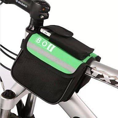 Ciclismo Sui bolsas marco Tubo de la bicicleta, verde: Amazon.es ...