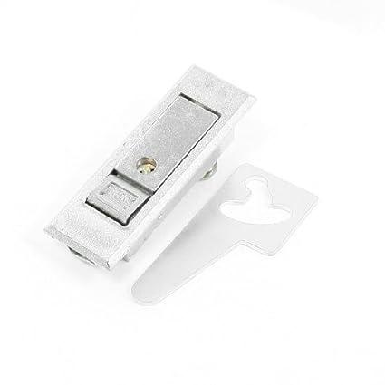 eDealMax tono Plata de hardware de seguridad plano del cierre de la puerta - - Amazon.com