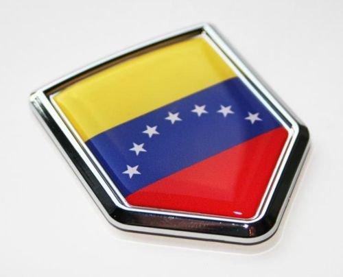 Aplique Cromo Venezuela, Insignia Bandera 3D