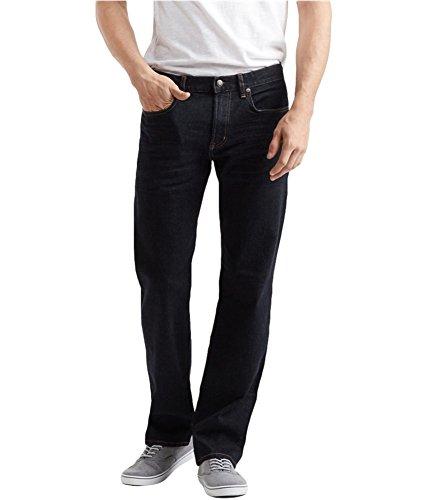 Aeropostale Mens Straight Stretch Jeans, Blue, 31W x 32L