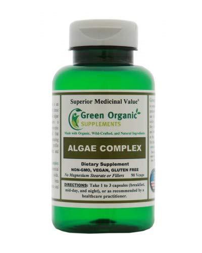 Green Organic Supplements' Algae, Fucoidan, Blue Green Algae, Kelp, Bladderwrack, Chlorella, Spirulina, Irish Moss, Dulse