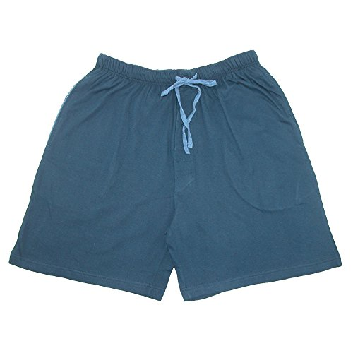 - Hanes Men's Jersey Knit Cotton Button Fly Pajama Sleep Shorts, XL, Navy