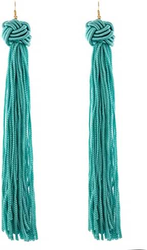 Knotted Tassel Long Earrings
