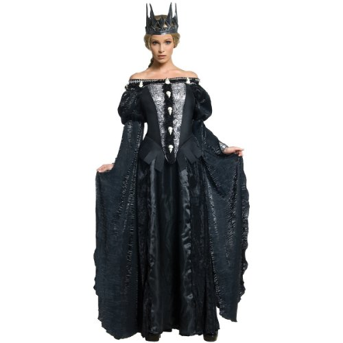 Snow White and The Huntsman Adult Queen Ravenna Skull Dress Costume, Black, -