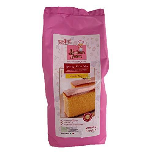 Madame Loulou Gluten Free Vanilla Sponge Cake Mix - moist, fluffy premium yellow cake mix 2.5 lbs (Vanilla) (Red Velvet Cake From Yellow Cake Mix)