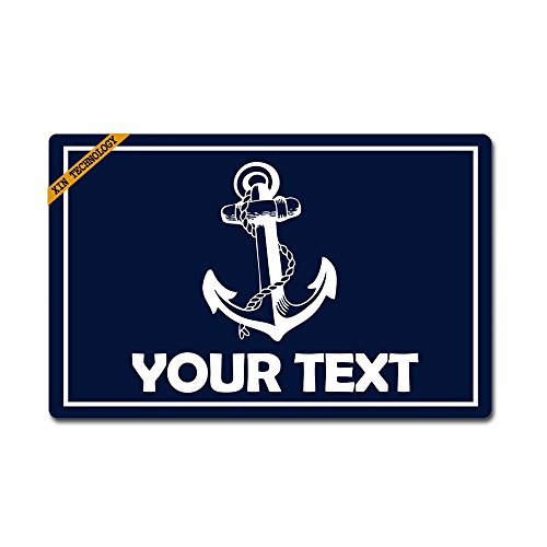 "Artsbaba Doormat Personalized Your Text Door Mat Anchor Doormats Monogram Non-Slip Doormat Non-Woven Fabric Floor Mat Indoor Entrance Rug Decor Mat 23.6"" x 15.7"""
