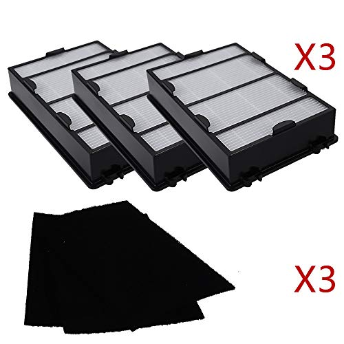 3 Pack Air Filter Holmes Replacement for Hapf600 Filter B HEPA Replacement Filter HAPF600D-U2 + 3 Carbon Filter