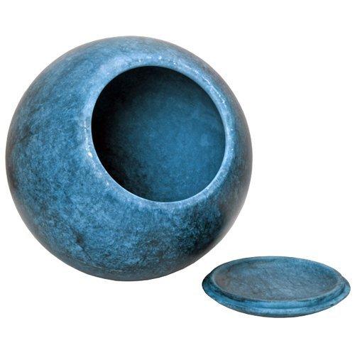 Memorial Gallery ALJ-301-AZ Alabaster Stone Sympathy Cremation Pet Urn, Full Size