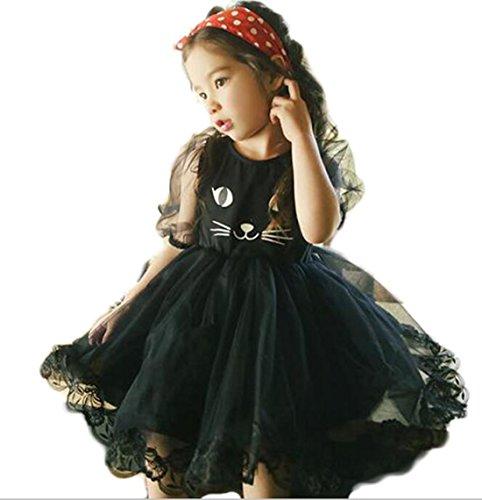 black cat face dress - 4