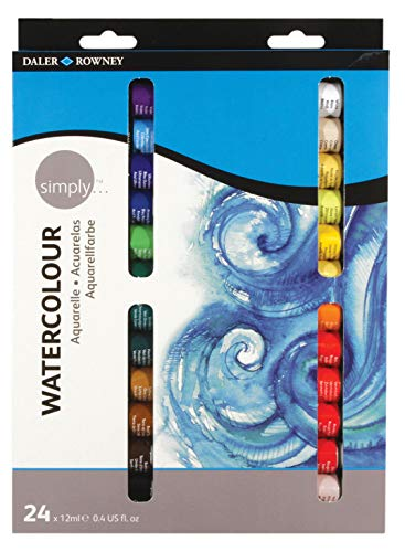 Daler Rowney- Daler Simply Watercolour Aquarelle Set 24 x...