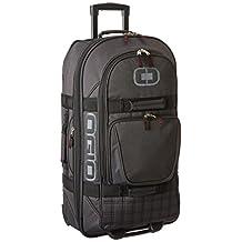 OGIO Terminal Luggage Bag, Black Pindot, Checked, Large