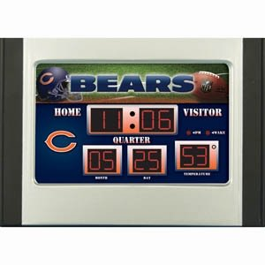 Hall of Fame Memorabilia Chicago Bears Scoreboard Desk & Alarm Clock