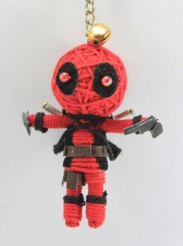 1 X Dead Pool Voodoo String Doll Keychain Ornament