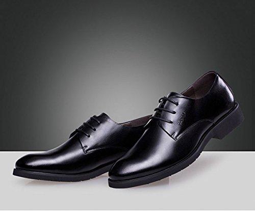 D'Affaires Black Cuir Hommes pour LEDLFIE Véritable Chaussures en Formelles Chaussures Cuir en CCw4gqU