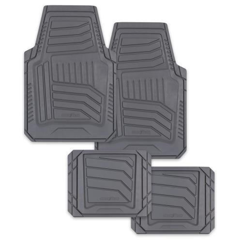 Goodyear Natural Rubber Floor Mat Set, Gray, 4pcs (805822)