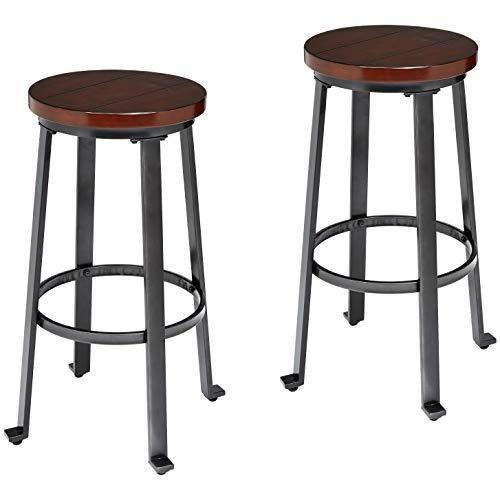 Ball & Cast Bar Table - 29 Inch, Rustic Brown (Bar Stools Whiskey Barrel)