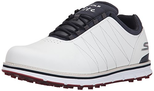 Skechers Performance Men's Go Golf Tour Elite Walking Shoe, White/Navy/Red, 13 2E US