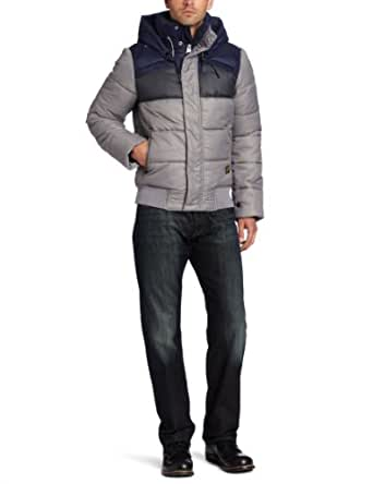 G-Star Raw Men's Whistler Hooded Bloc Bomber Jacket, Avalanche, Small