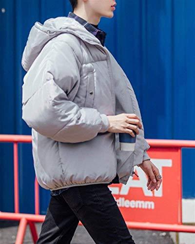Da Giacche Abbigliamento Invernale A Grau Solido Outwear Casuali Lunghe Caldi Degli Capispalla Giacca Uomini Sciolto Maniche Parka Uomo Incappucciati Colore 8qvwp