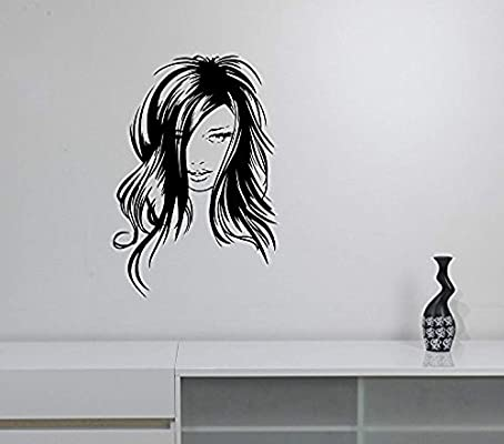 Amazon com: Sexy Woman Face Wall Sticker Cute Pretty Girl Vinyl