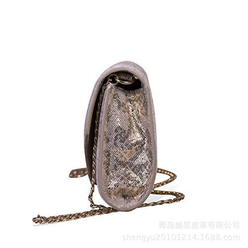 Dîner En Cuir Bandoulière Main Paillettes Sac silver Le De Dames Sac Mode à De Tenant 4UqxOT