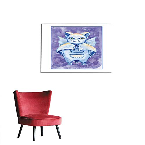 (homehot Wall Sticker Decals bat a Stand-Alone Sketch Animation The Symbol of Halloween Mural)