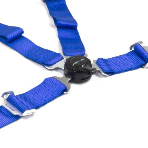 NRG Innovations SBH-4PCBL Blue 4 Point Seat Belt Harness/Cam