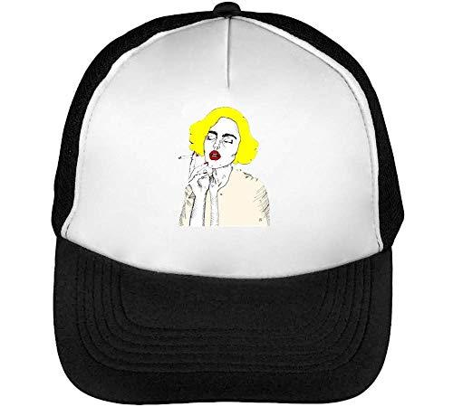 Blonde Cigarette Gorras Hombre Snapback Beisbol Negro Blanco