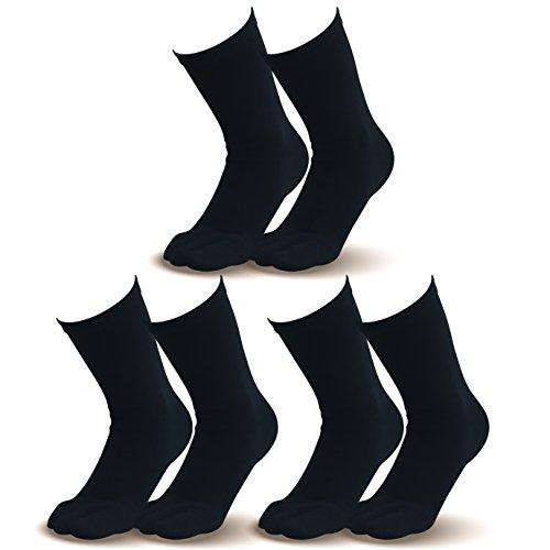 【指先まであったか靴下(紳士用)】25.0-28.0cm とってもお得な ブラック3足組  温かい 暖かい 遠赤外線加工 セラミック 伸びる ゴルフ アウトドア 登山 ウォーキング ランニング 外反母趾対策 健康 5本指ソックス