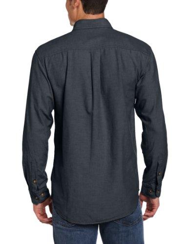 Ls Relajado Ligero Chambray De Camiseta S202 Ajuste Fort Frontal Carhartt Black Botón Hombres Hx48zz