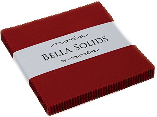 Bella Solids Country Red Moda Charm Pack by Moda Fabrics; 42-5